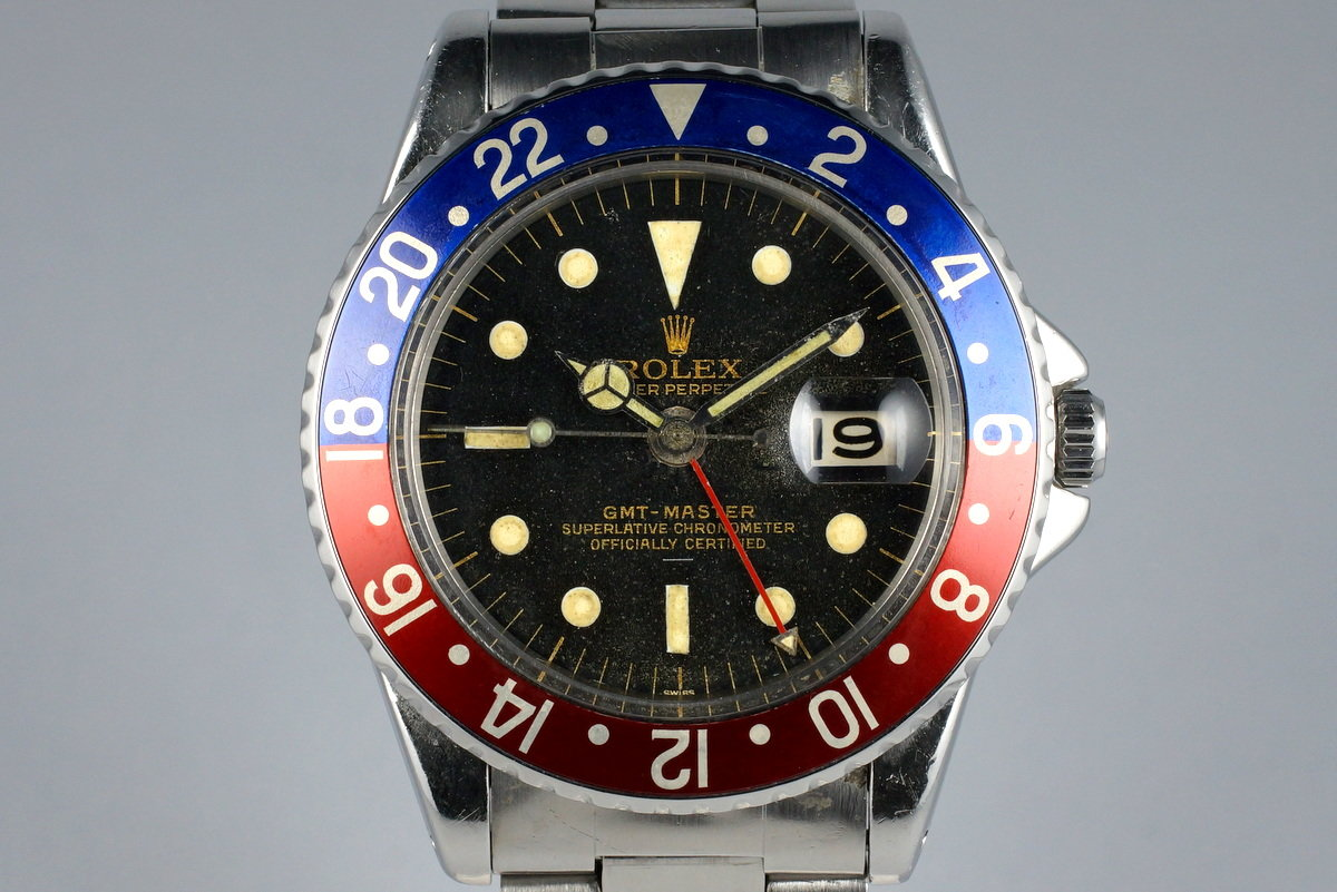 1963 Rolex GMT 1675 PCG Gilt UNDERLINE Dial with Papers photo, #0