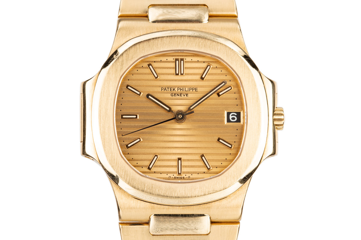 1985 18K YG Patek Philippe Nautilus 3800 with Box and Papers photo, #0