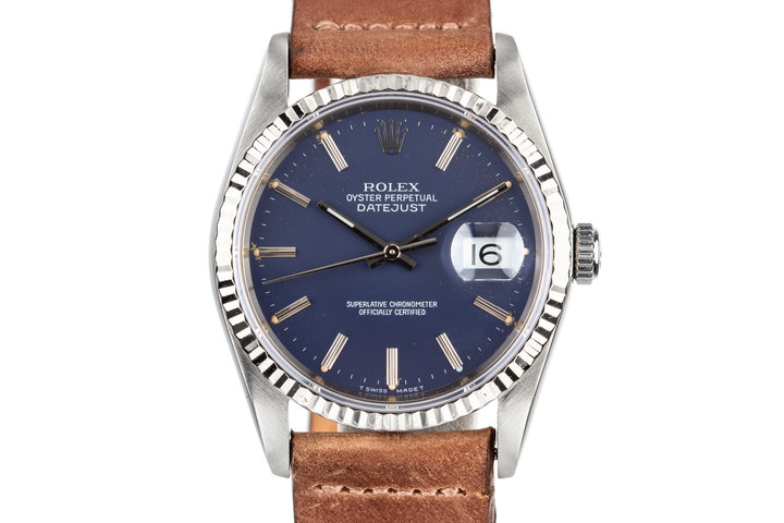 1988 Rolex DateJust 16234 with Matte Blue Dial photo
