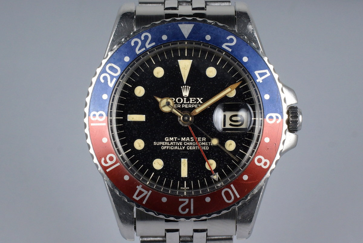 1963 Rolex GMT 1675 PCG Gilt UNDERLINE Dial with RSC Papers photo, #0