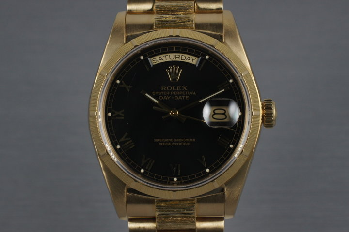 1987 Rolex Bark Day Date 18078 photo