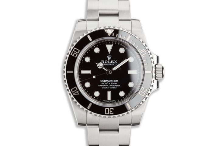 2018 Rolex Submariner No-Date 114060 with Box & Card photo