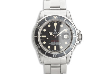 1971 Vintage Rolex MK IV Red Submariner 1680 with Box & Papers photo