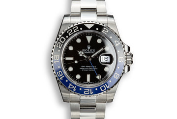 "2014 Rolex GMT-Master II 116710 BLNR ""Batman"" with Box and Papers photo"