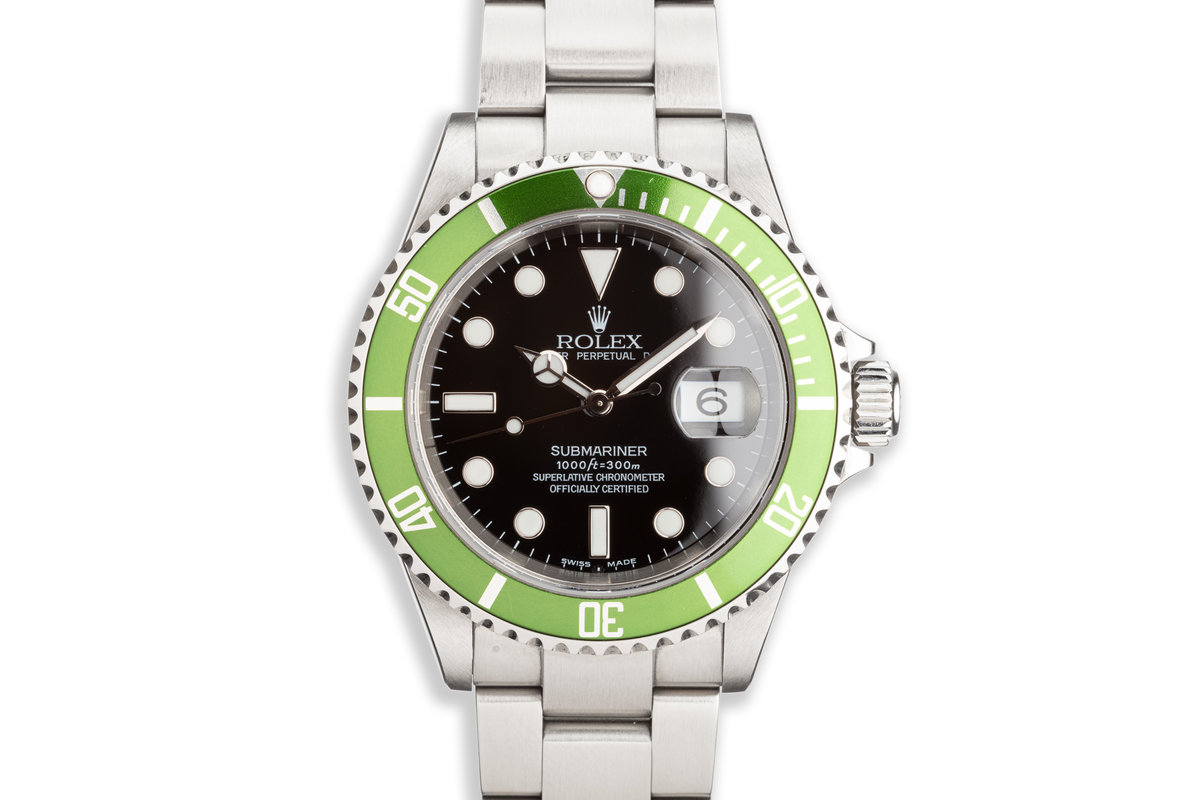 2005 Rolex Green Submariner 16610T with Box and Papers photo, #0