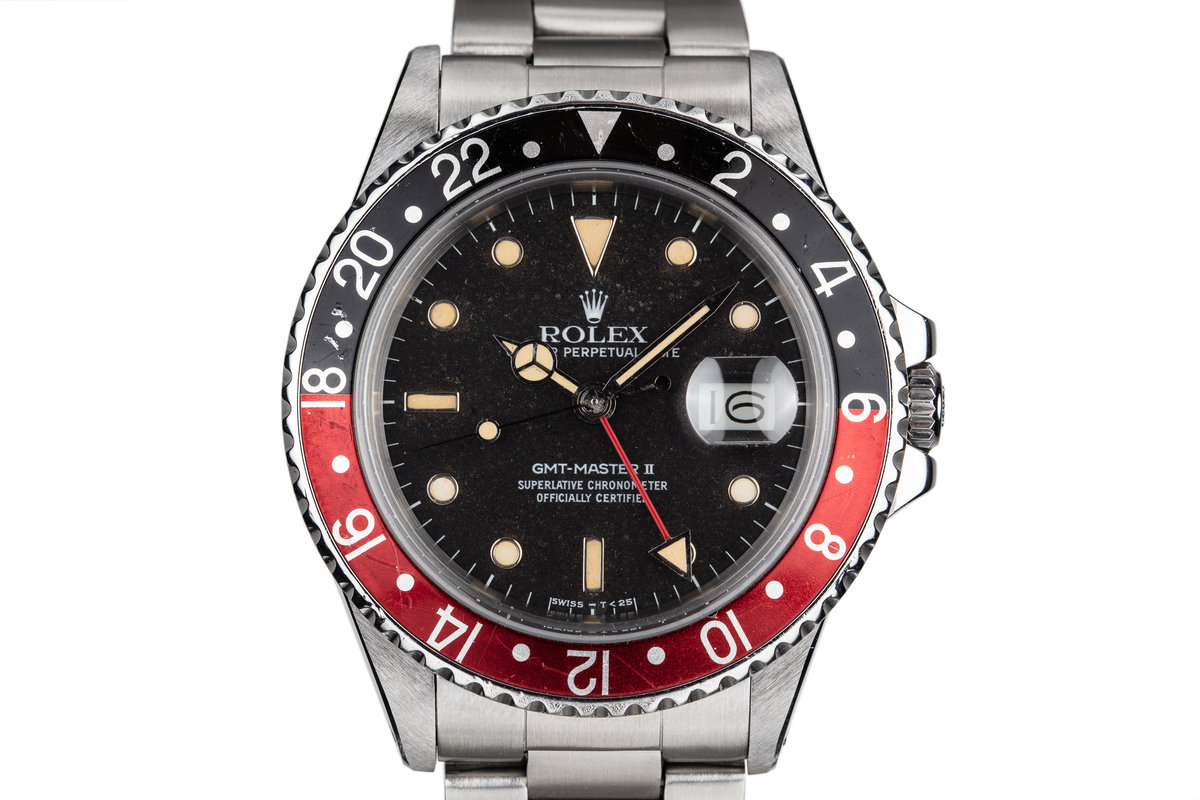 "Rolex 1985 Fat Lady GMT-Master II with ""Black Granite"" Dial photo, #0"