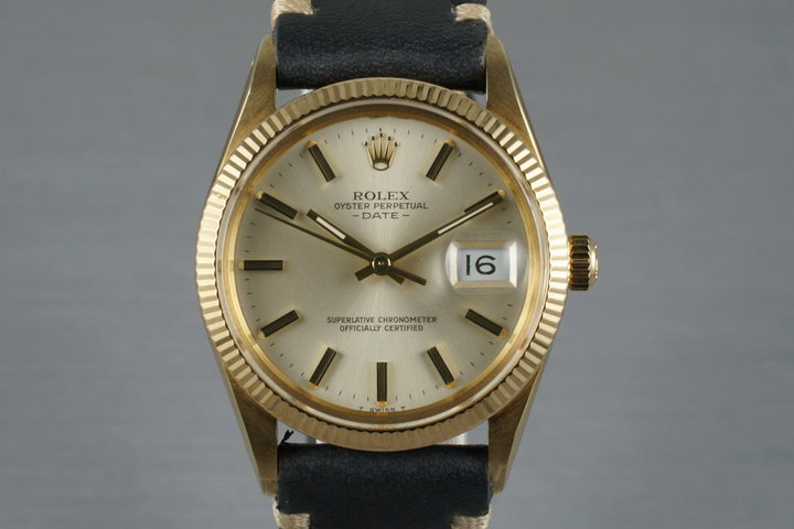1980 Rolex 14K YG Date 15037 photo