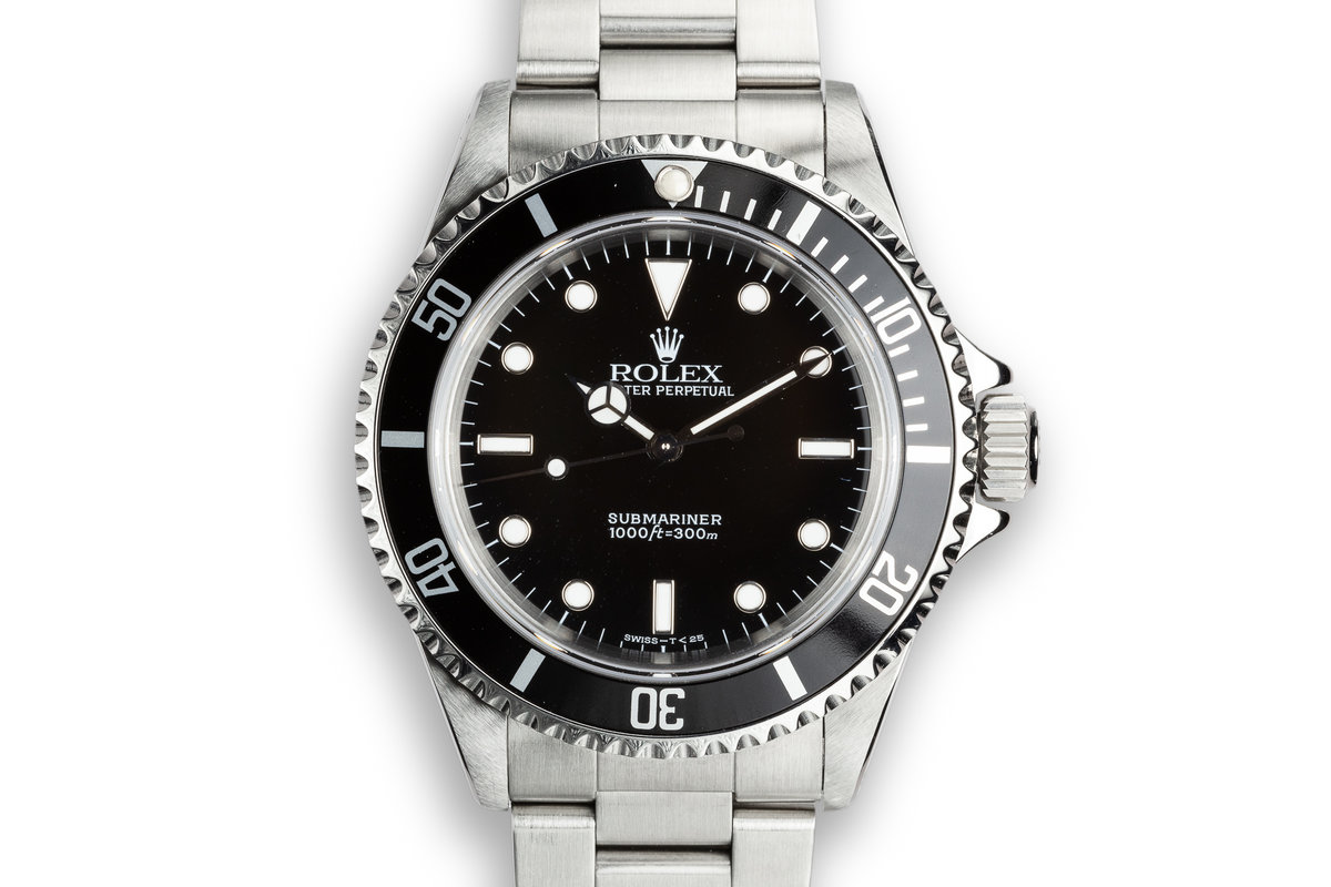 1995 Rolex Submariner 14060 with Service Papers photo, #0