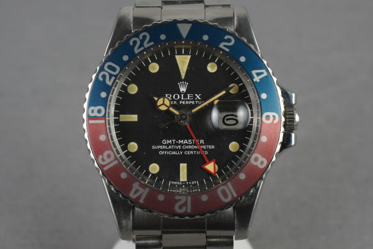 1967 Rolex GMT 1675  Mark 1 Dial with All  Red 24 Hour Hand photo, #0