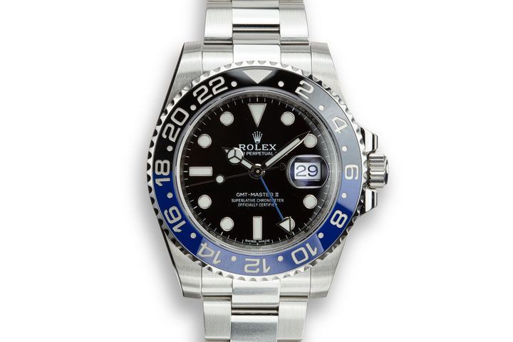 "2018 Rolex GMT-Master II 116710BLNR ""Batman"" with Box and Papers photo"