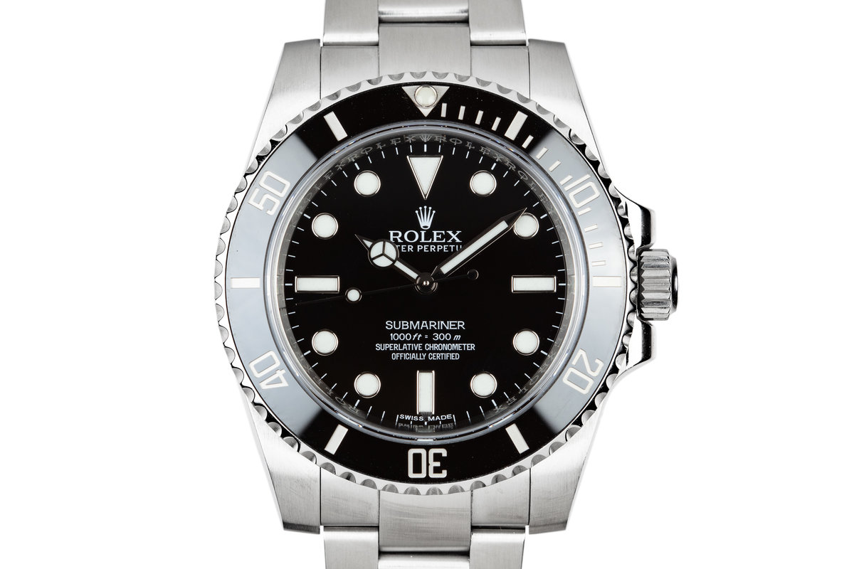 2016 Rolex Submariner 114060 with Box and Papers photo, #0