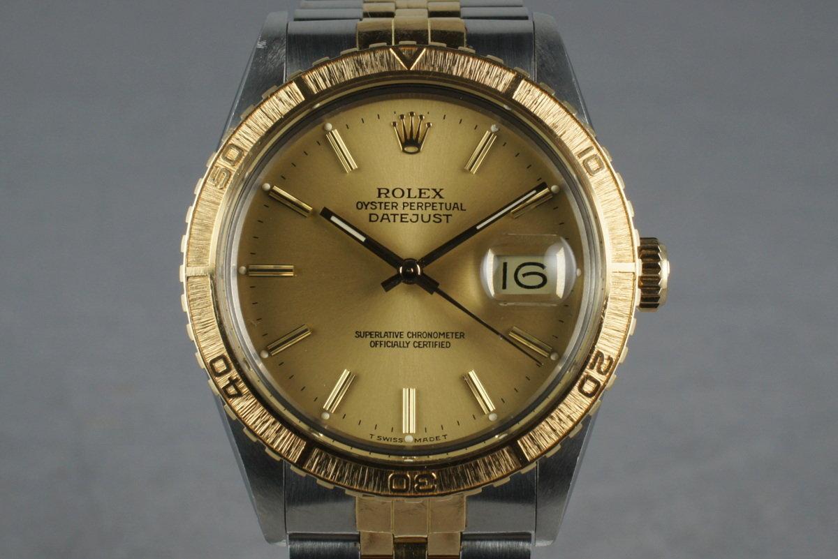 1987 Rolex 18K/SS DateJust Thunderbird 16253 photo, #0