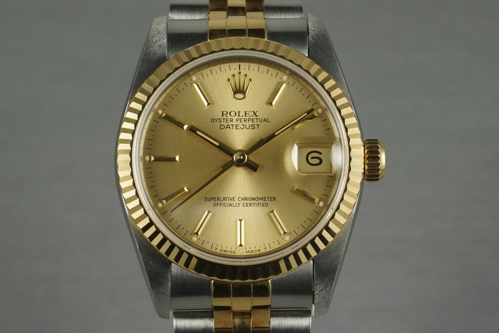 1991 Rolex Two Tone DateJust Mid Size 68273 photo