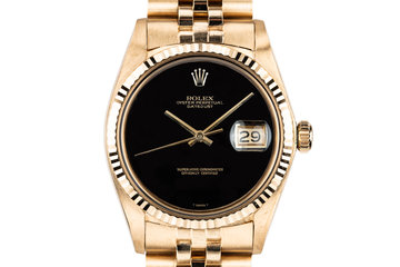 1972 Rolex 18K YG DateJust 1601 with Onyx Dial photo