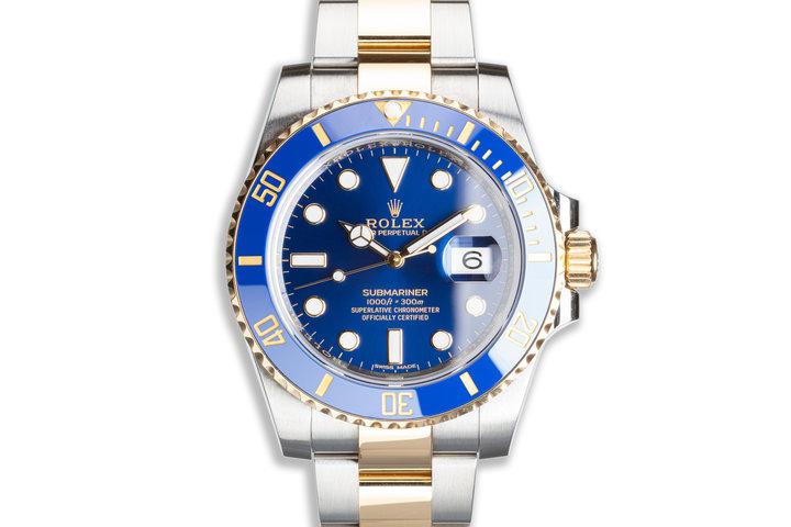 2019 Rolex Submariner 116613LB Ceramic Metallic Blue Dial with Box & Papers photo