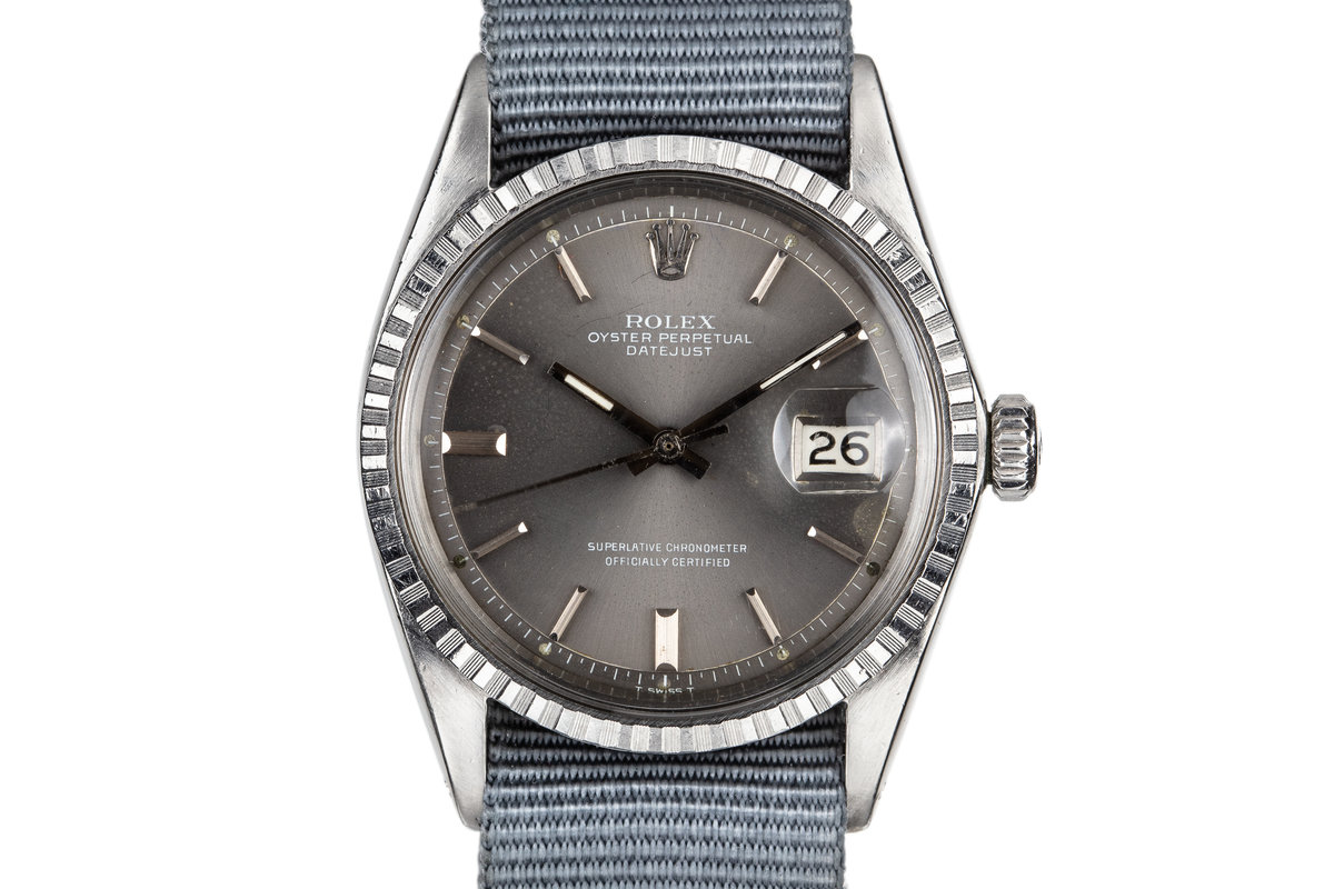 "1968 Rolex DateJust 1603 Grey ""London Sky"" Dial with White Print photo, #0"