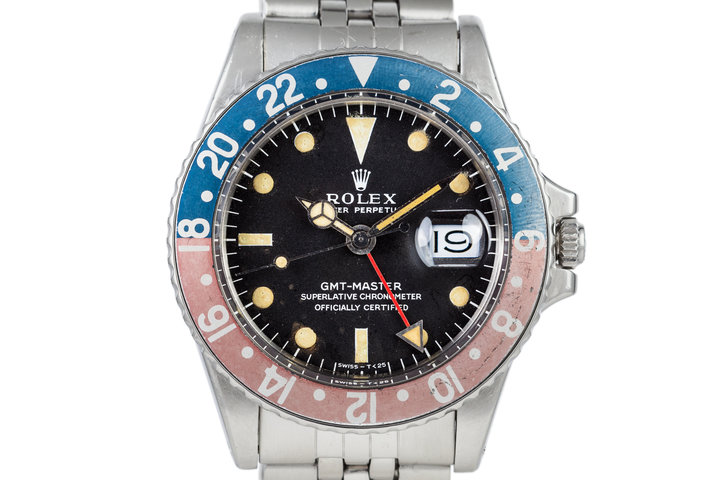 1971 Rolex GMT 1675 Mark I Dial with service papers photo