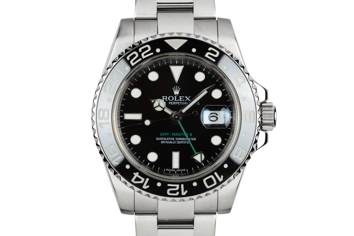 2007 Rolex GMT-Master II 116710N with Box and Papers photo, #0