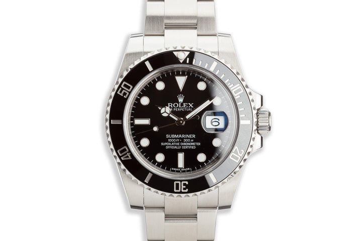 2015 Rolex Ceramic Submariner 116610LN with Box and Card photo