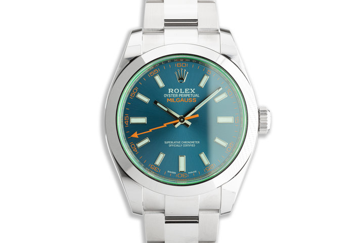 2021 Rolex Milgauss 116400GV Blue Dial with Box and Card photo