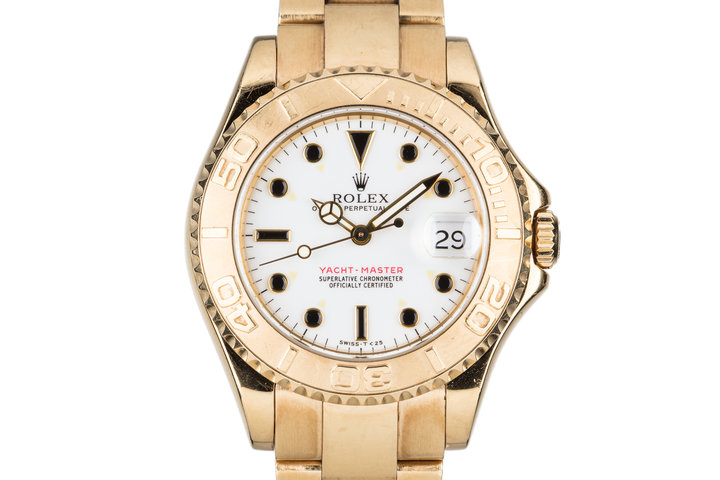 1997 Rolex 18K Midsize Yacht-Master 68628 photo