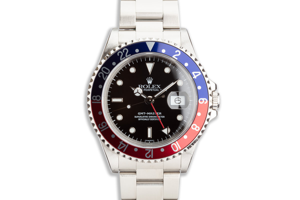"""1999 Rolex GMT-Master 16700 """"Pepsi"""" Box and Papers and Service Cards photo, #0"""
