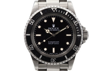1984 Rolex Submariner 5513 Spider Dial photo
