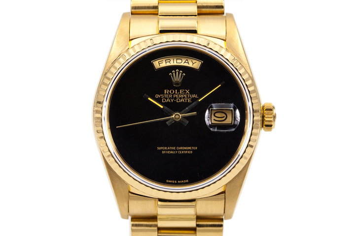 1987 Rolex YG Day Date 18038 with Black Onyx Dial photo