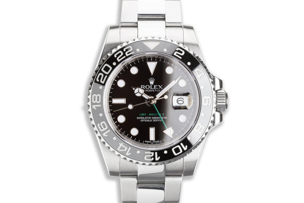 2012 Rolex GMT-Master II 116710LN Black Bezel with Box & Card photo, #0