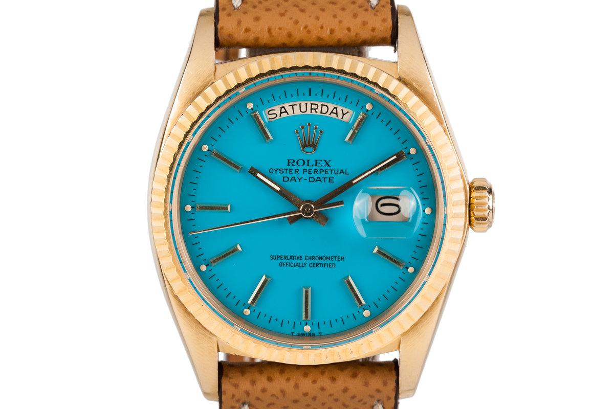 1970 Rolex YG Day-Date 1803 Blue Stella Dial photo, #0