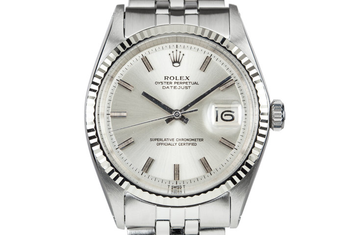 1970 Rolex DateJust 1601 Silver Dial with No Lume Dial photo