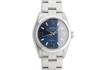 1997 Rolex Air-King 14000 Blue Dial photo