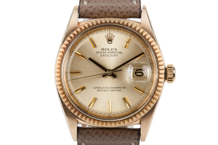 1968 Rolex 18K DateJust 1601 photo