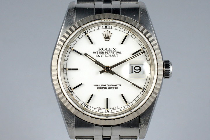 1995 Rolex DateJust 16234 White Dial photo