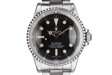 "1979 Rolex Sea-Dweller 1665 with MK I Dial and ""Ghost"" Bezel Insert photo"