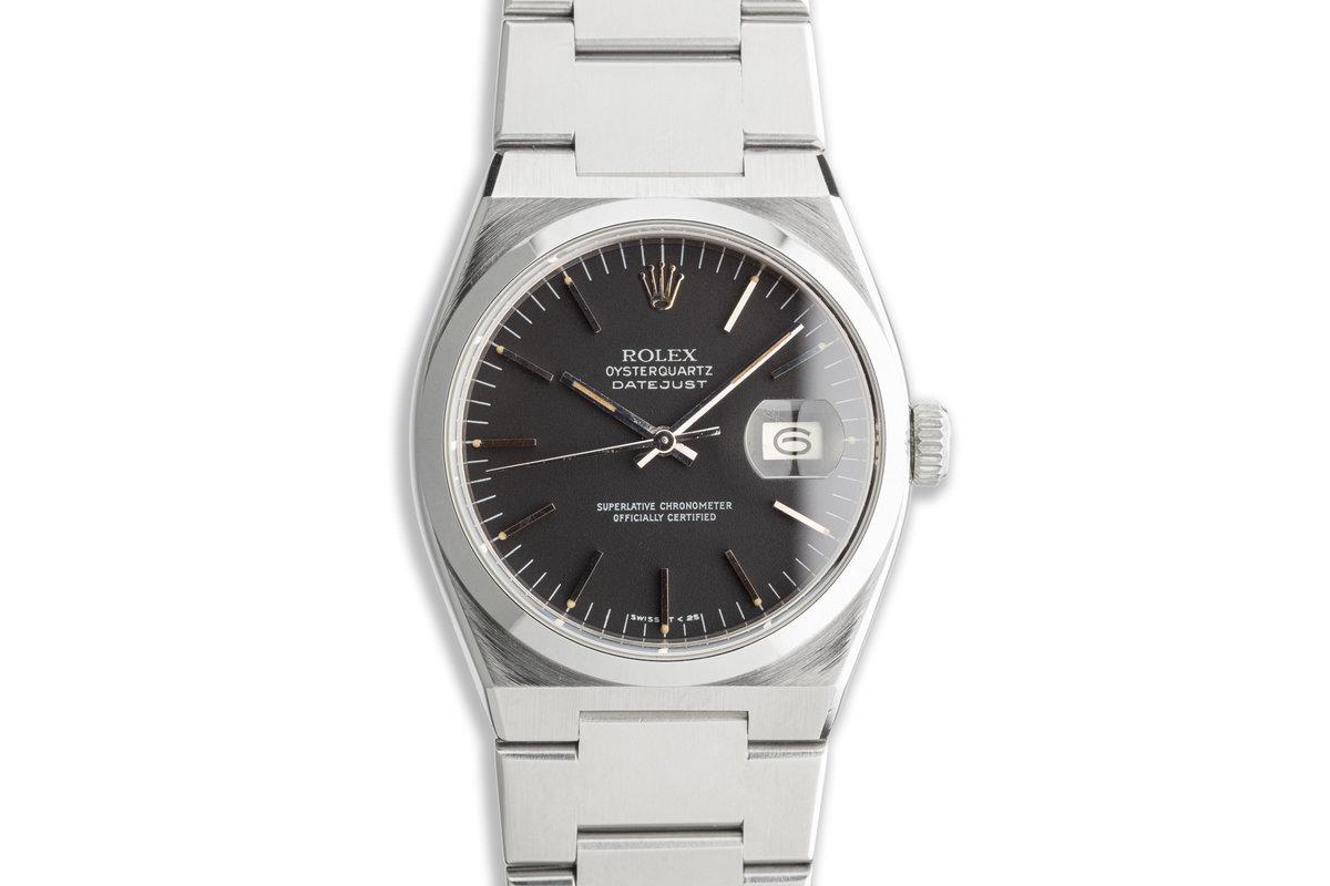 1981 Vintage Rolex OysterQuartz DateJust 17000 Black Dial photo, #0