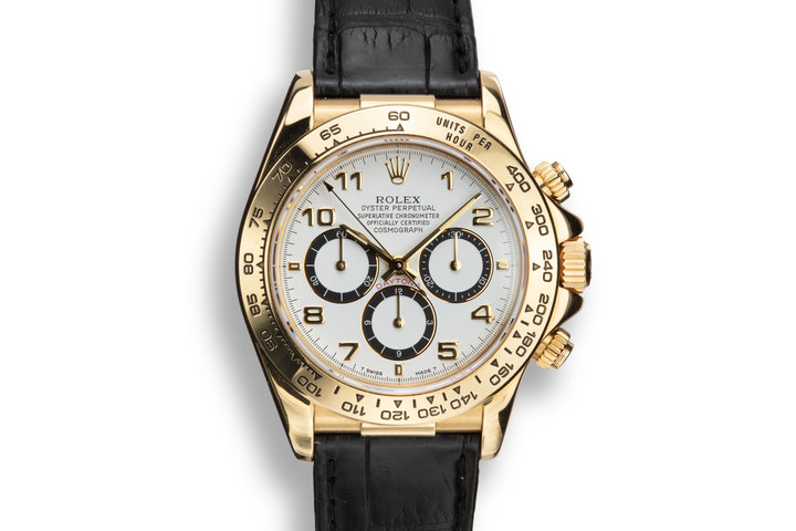1993 Rolex 18K YG Daytona 16578 White Inverted 6 Dial with Box, Papers, and Service Papers photo
