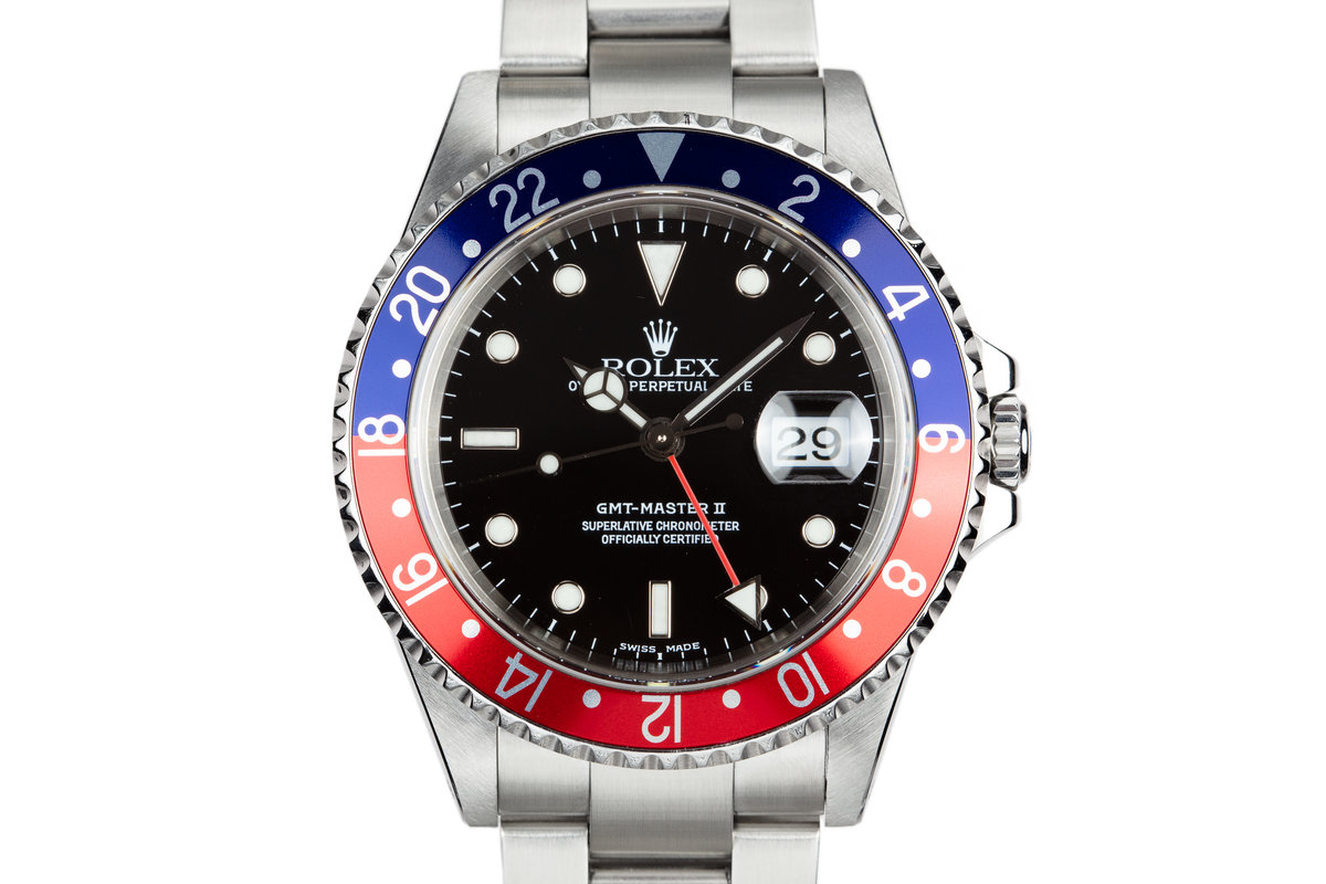 "2000 Rolex GMT-Master II 16710 ""Pepsi"" with Box and Papers photo, #0"