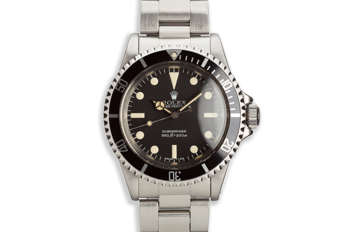 1981 Vintage Rolex Submariner 5513 MK III Maxi Lollipop Dial photo, #0