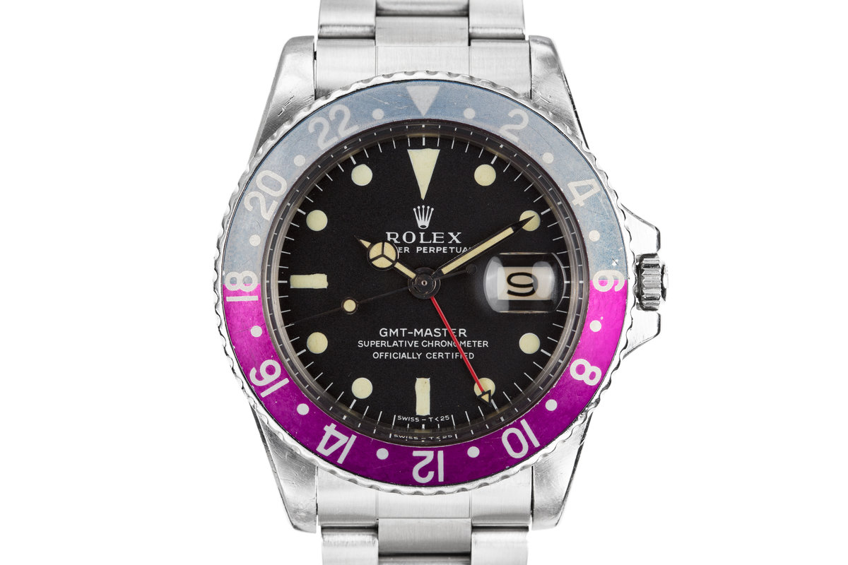 1967 Rolex GMT-Master 1675 Mark I Dial with Fuchsia Bezel photo, #0