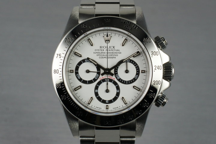 1997 Rolex SS Zenith Daytona 16520 White Dial with Box and Papers photo