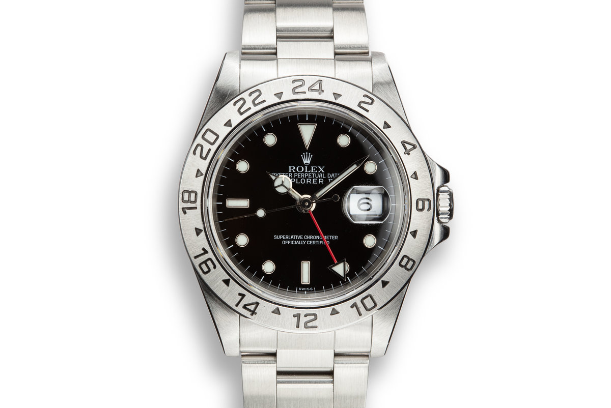 "1999 Rolex Explorer II 16570 ""SWISS"" Only Black Dial with Box and Papers photo, #0"