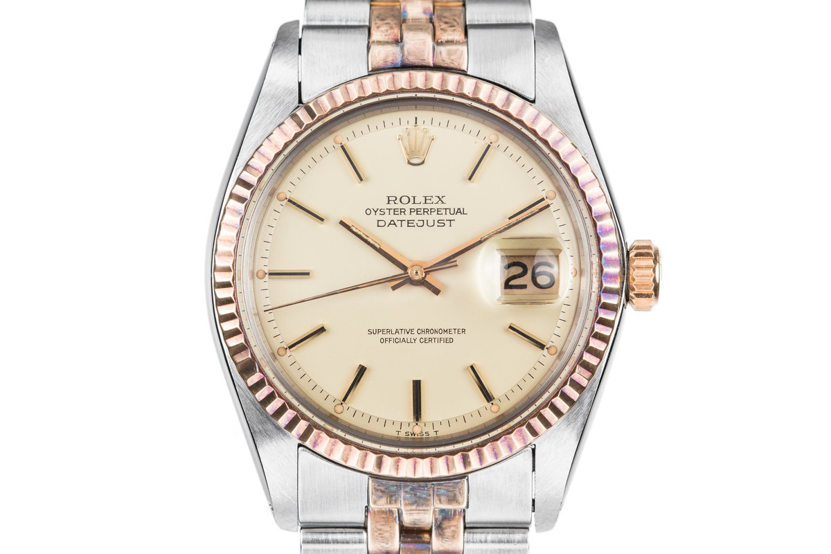 1972 Rolex Two-Tone DateJust 1601 with Matte Champagne Dial photo, #0