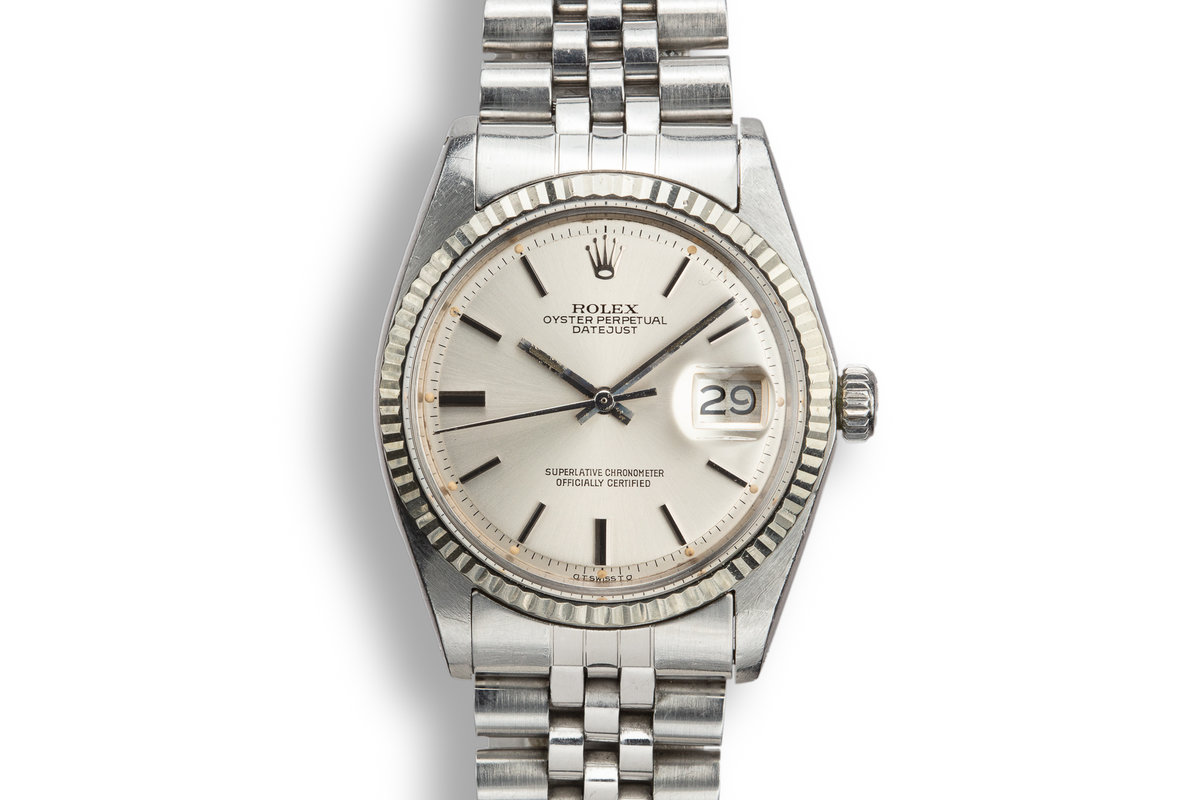 1974 Rolex DateJust 1603 with Silver Sigma Dial photo, #0
