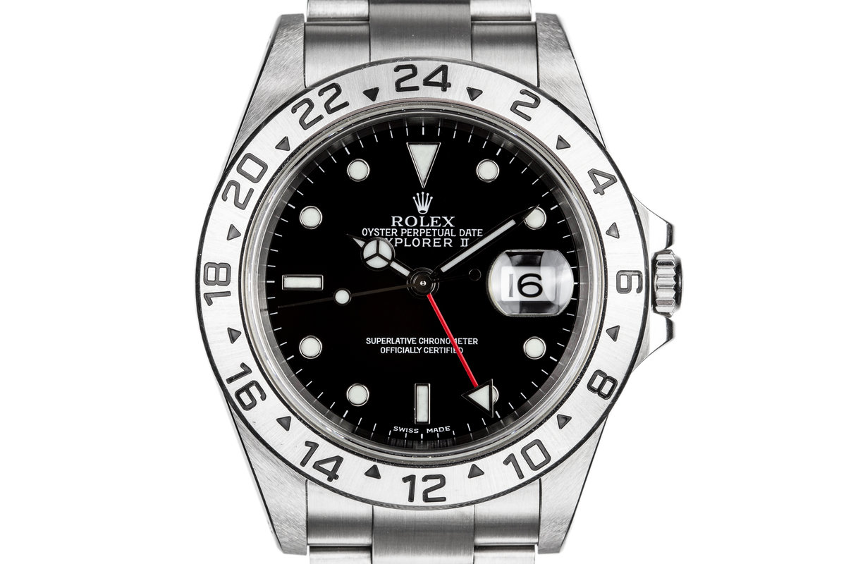 2001 Rolex Explorer II 16570 with Black Dial photo, #0