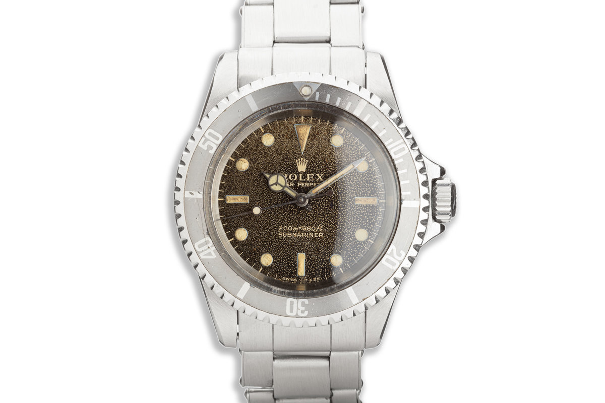 1966 Vintage Rolex Submariner 5513 with Tropical Meters First Gilt Dial photo, #0