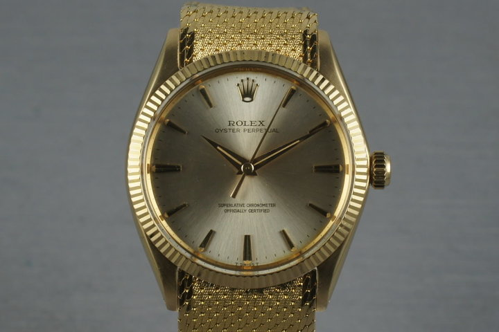 1964 Rolex Vintage Oyster Perpetual 18K 1005 with Rare Bracelet photo