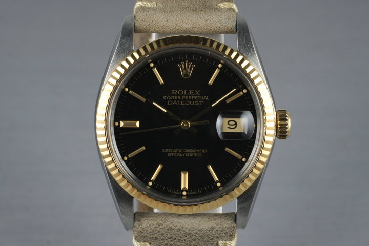 1978 Rolex Two Tone DateJust 16013 with Black Dial photo