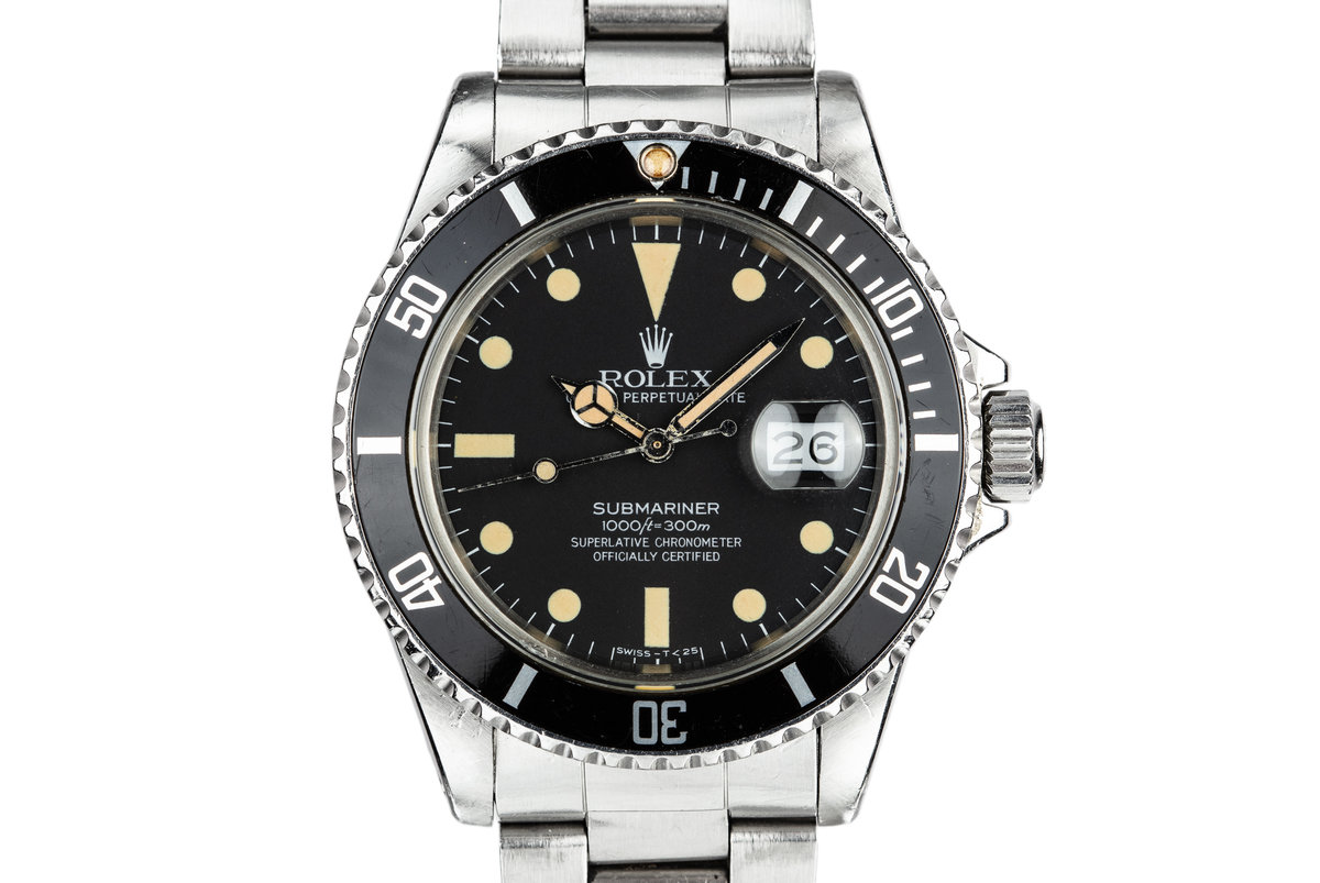 1981 Rolex Submariner 16800 Matte Dial with Box and Papers photo, #0