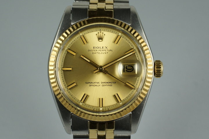 1970 Rolex Two Tone DateJust 1601 'Wide Boy' Dial photo